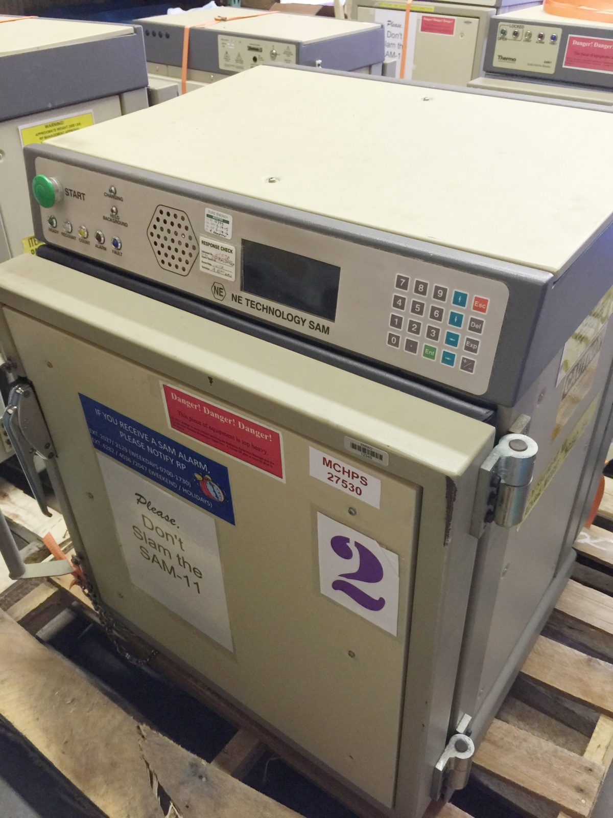 ThermoFisher (Eberline) SAM-11 Small Article Monitor 4C 2D. Two Doors